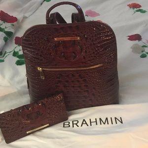Brahmin Backpack and wallet